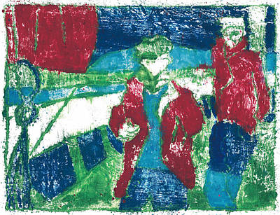 Painting - After Billy Childish Painting Otd 27 by Artist Dot