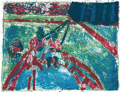 Painting - After Billy Childish Painting Otd 28 by Artist Dot