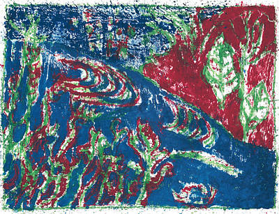 Painting - After Billy Childish Painting Otd 29 by Artist Dot