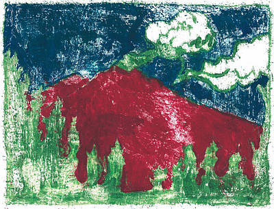 Painting - After Billy Childish Painting Otd 30 by Artist Dot
