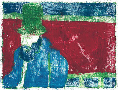 Painting - After Billy Childish Painting Otd 32 by Artist Dot