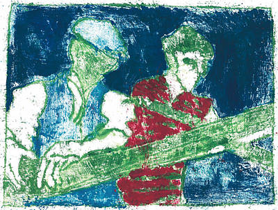Painting - After Billy Childish Painting Otd 33 by Artist Dot