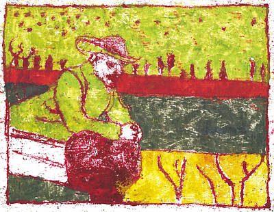 Painting - After Billy Childish Painting Otd 34 by Artist Dot