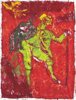 Painting - After Billy Childish Painting Otd 38 by Artist Dot
