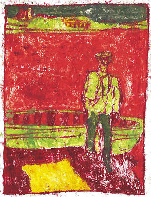 Painting - After Billy Childish Painting Otd 39 by Artist Dot