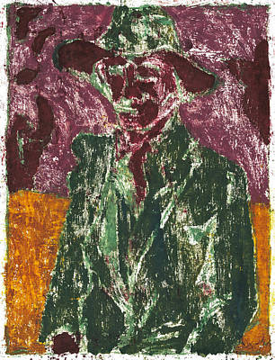 Painting - After Billy Childish Painting Otd 4 by Artist Dot