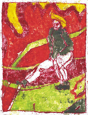 Painting - After Billy Childish Painting Otd 40 by Artist Dot