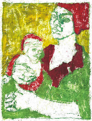 Painting - After Billy Childish Painting Otd 41 by Artist Dot