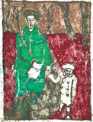 Painting - After Billy Childish Painting Otd 45 by Artist Dot