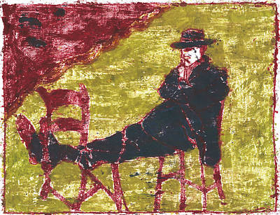 Painting - After Billy Childish Painting Otd 5 by Artist Dot