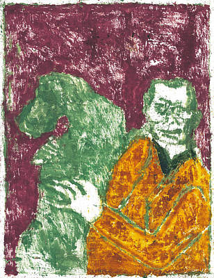 Painting - After Billy Childish Painting Otd 6 by Artist Dot