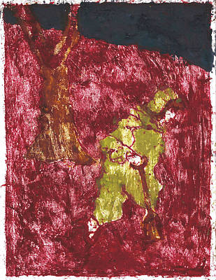 Painting - After Billy Childish Painting Otd 7 by Artist Dot