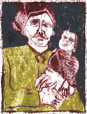 Painting - After Billy Childish Painting Otd 8 by Artist Dot