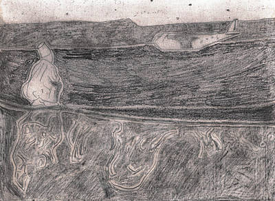 Drawing - After Billy Childish Pencil Drawing 18 by Artist Dot