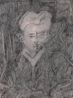 Drawing - After Billy Childish Pencil Drawing 2 by Artist Dot