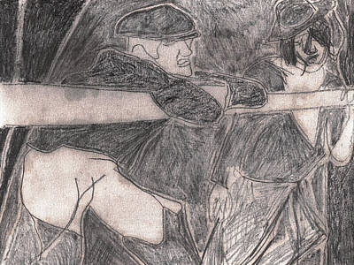 Drawing - After Billy Childish Pencil Drawing 26 by Artist Dot