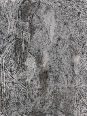 Drawing - After Billy Childish Pencil Drawing 3 by Artist Dot