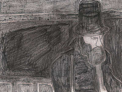 Drawing - After Billy Childish Pencil Drawing 32 by Artist Dot