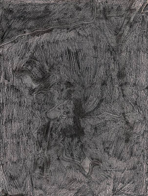 Drawing - After Billy Childish Pencil Drawing 7 by Artist Dot