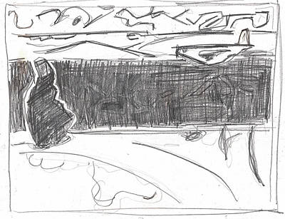 Drawing - After Billy Childish Pencil Drawing B2-15 by Artist Dot