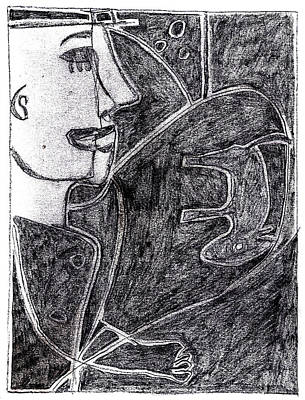 Drawing - After Childish Edgeworth Pencil Drawing 4 by Artist Dot