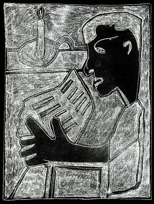 Digital Art - After Childish Edgeworth White On Black 1 by Artist Dot