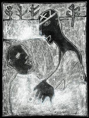 Digital Art - After Childish Edgeworth White On Black 11 by Artist Dot