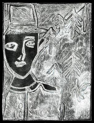Digital Art - After Childish Edgeworth White On Black 12 by Artist Dot