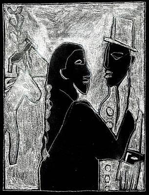 Digital Art - After Childish Edgeworth White On Black 17 by Artist Dot