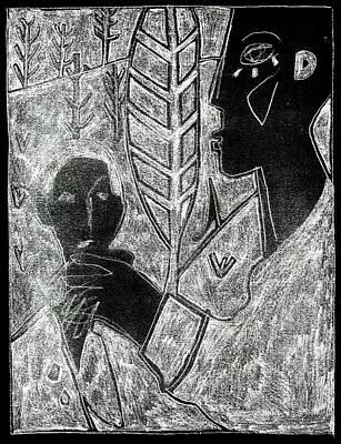 Digital Art - After Childish Edgeworth White On Black 18 by Artist Dot