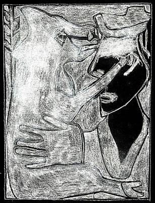 Digital Art - After Childish Edgeworth White On Black 19 by Artist Dot
