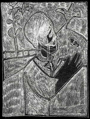 Digital Art - After Childish Edgeworth White On Black 2 by Artist Dot