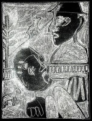 Digital Art - After Childish Edgeworth White On Black 21 by Artist Dot