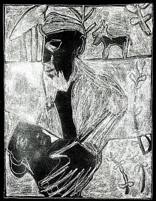Digital Art - After Childish Edgeworth White On Black 23 by Artist Dot