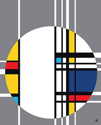 Digital Art - After Mondrian Circle 2 by Gary Grayson