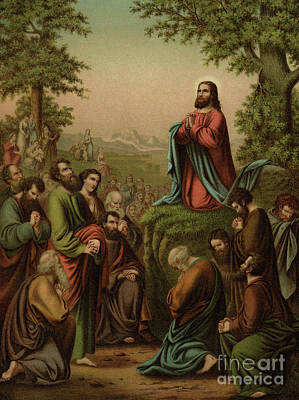 Painting - After This Manner Therefore Pray Ye  Our Father Which Art In Heaven by Heinrich Jenny