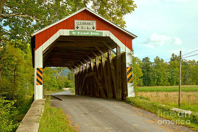Photograph - Afternoon At The Mt. Pleasant Covered Bridge by Adam Jewell