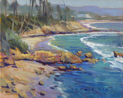 Painting - Afternoon Colors / Laguna Beach by Konnie Kim