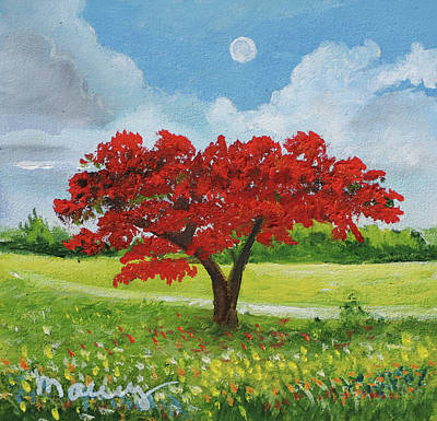 Painting - Afternoon Flamboyant Tree by Alicia Maury
