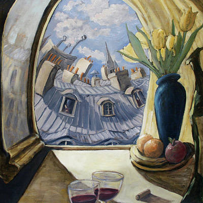 Painting - Afternoon In The Nest- Paris by Linda Mccluskey