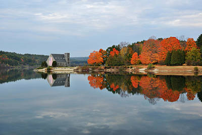 Photograph - Afternoon Reflection At Wachusett Reservoir by Luke Moore