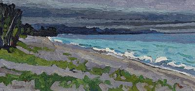 Painting - Agawa Beach Sunset by Phil Chadwick