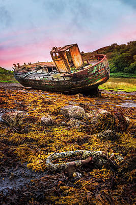 Photograph - Aground by Debra and Dave Vanderlaan