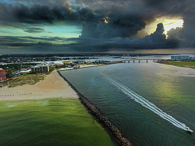 Photograph - Ahead Of The Storms At Perdido Pass by Michael Thomas