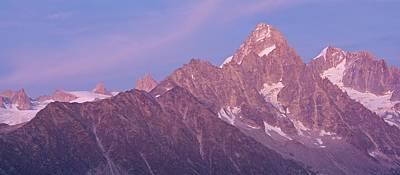Tour Du Mont Blanc Wall Art - Photograph - Aiguille Du Chardonnet Alpen Glow by Stephen Taylor