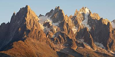 Photograph - Aiguille Du Grepon Sunset by Stephen Taylor