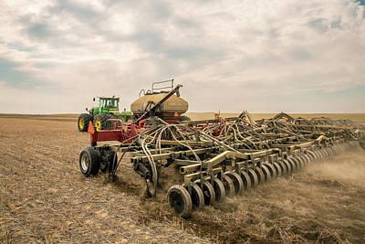 Photograph - Air Drill Seeding by Todd Klassy