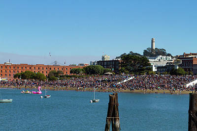 Photograph - Air Show Crowd At Aquatic Park by Bonnie Follett