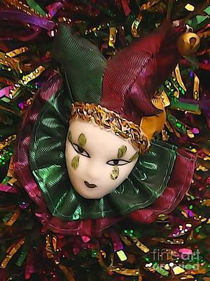 School Tote Bags Royalty Free Images - Airbrush Mardi Gras 2019 Carnival Mask Clown Royalty-Free Image by Joseph Baril