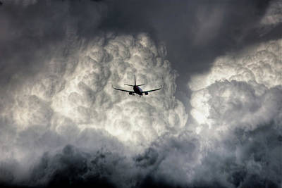 Photograph - Airplane And Clouds by Photo By Greg Thow